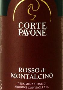 2011er-Loacker-Corte-Pavone-Rosso-di-Montalcino-Etikett